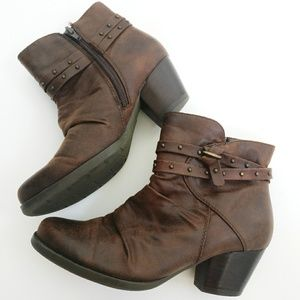 Brown Bare Traps Ankle Boots 6.5